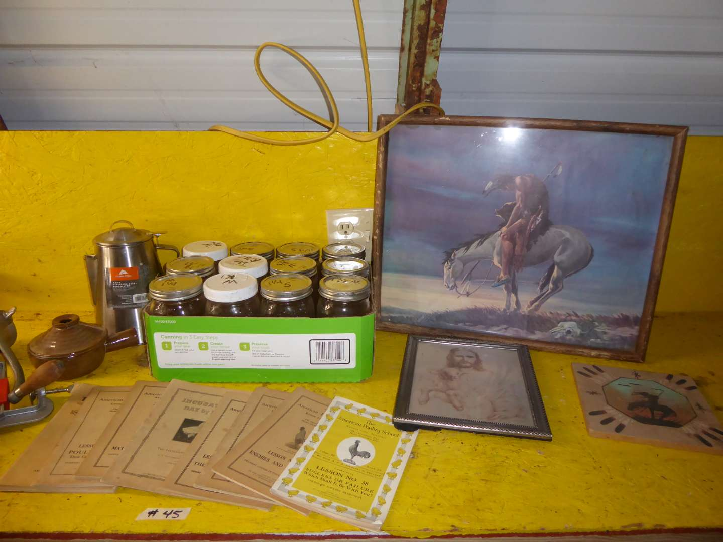 Lot # 45 - 1920's American Poultry School Journals, Canning Jars & More  (main image)