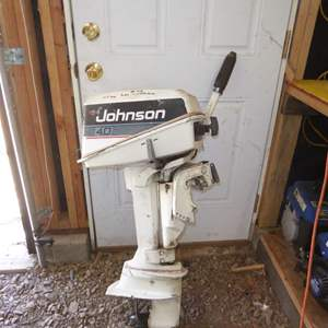 Auction Thumbnail for: Lot # 48 - Johnson 4 HP Outboard Motor