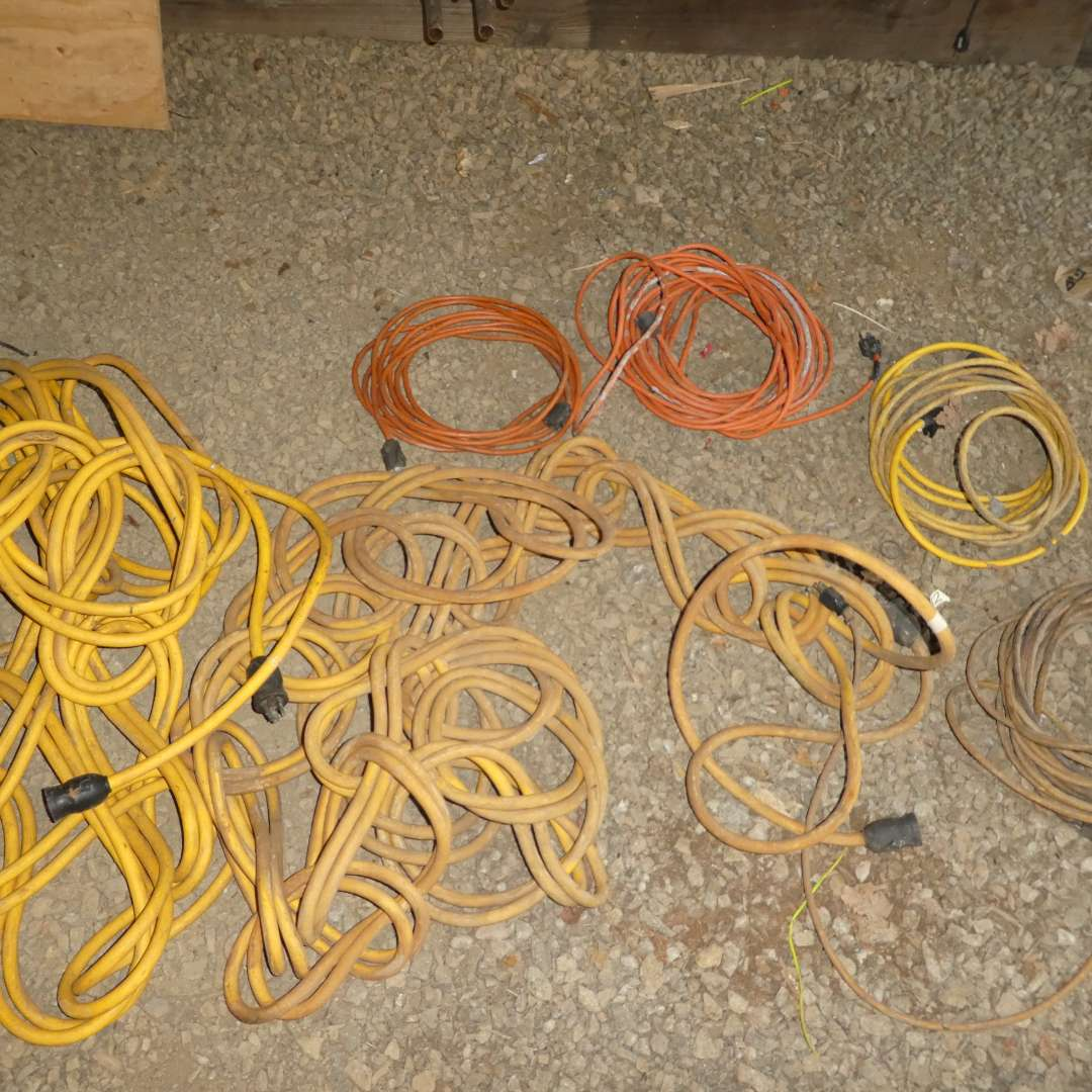 Lot # 82 - Lot of Extension Cords (2 - 22V Cords and 4 -110V Cords) (main image)