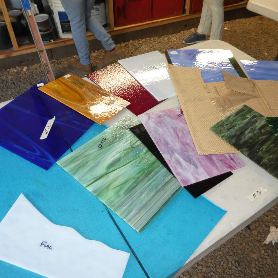 Lot # 84 - Variety of Beautiful High Quality Stained Glass (Various Colors and Sizes) (main image)