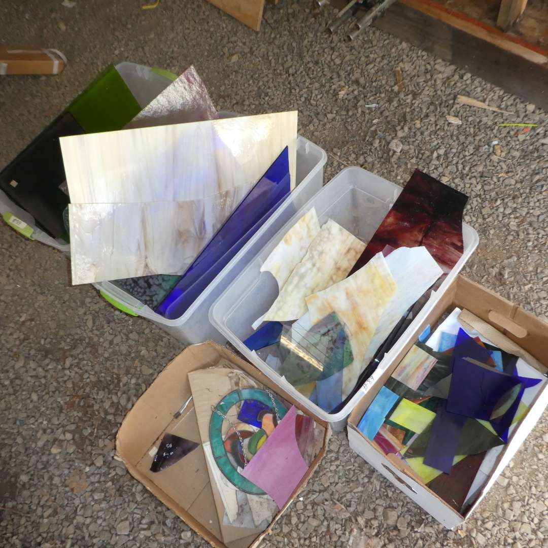 Lot # 89 - Variety of Beautiful High Quality Stained Glass (Various Colors and Sizes) (main image)