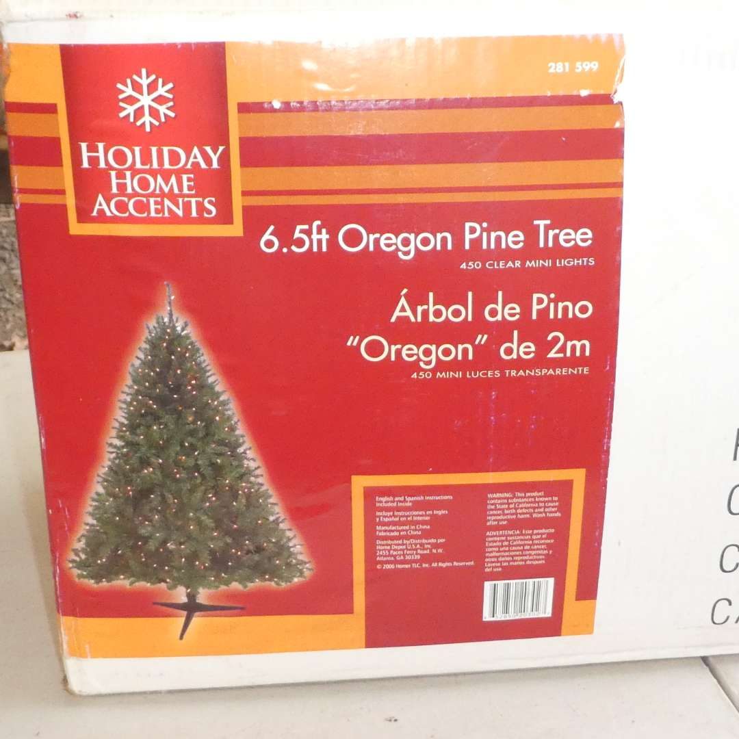 """Lot # 53 -  Holiday Home Accents 6 1/2 FT """" Oregon Pine""""Artificial Christmas Tree (Appears to be New) (main image)"""