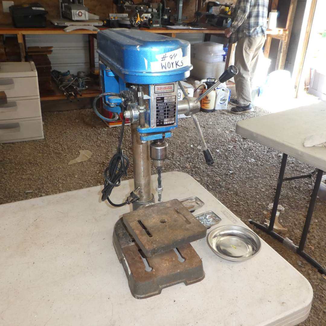Lot # 94 - Universal Industrial Machines Bench Top Drill Press (Serial 157394) (main image)