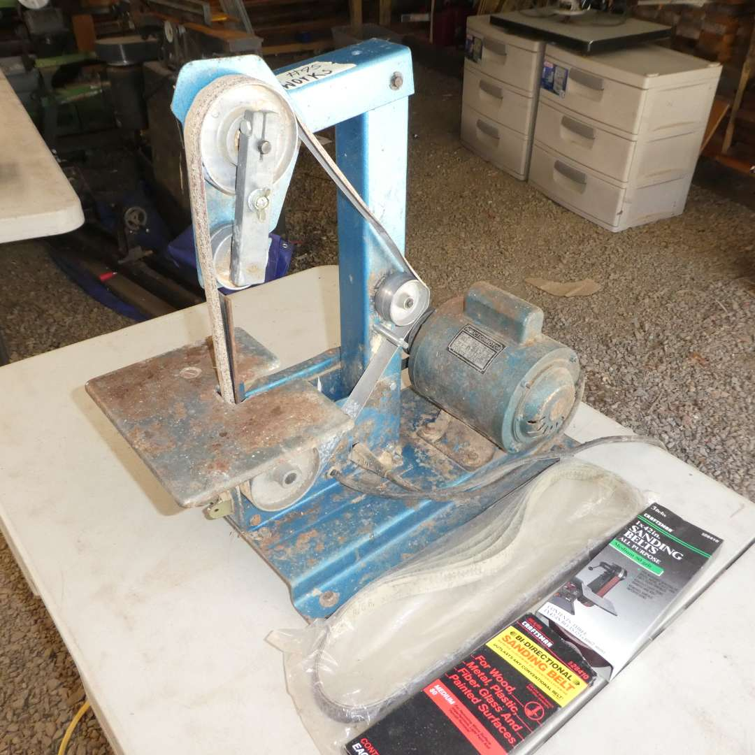 Lot # 95 - Bench Top Belt Sander (See All Photos) (main image)