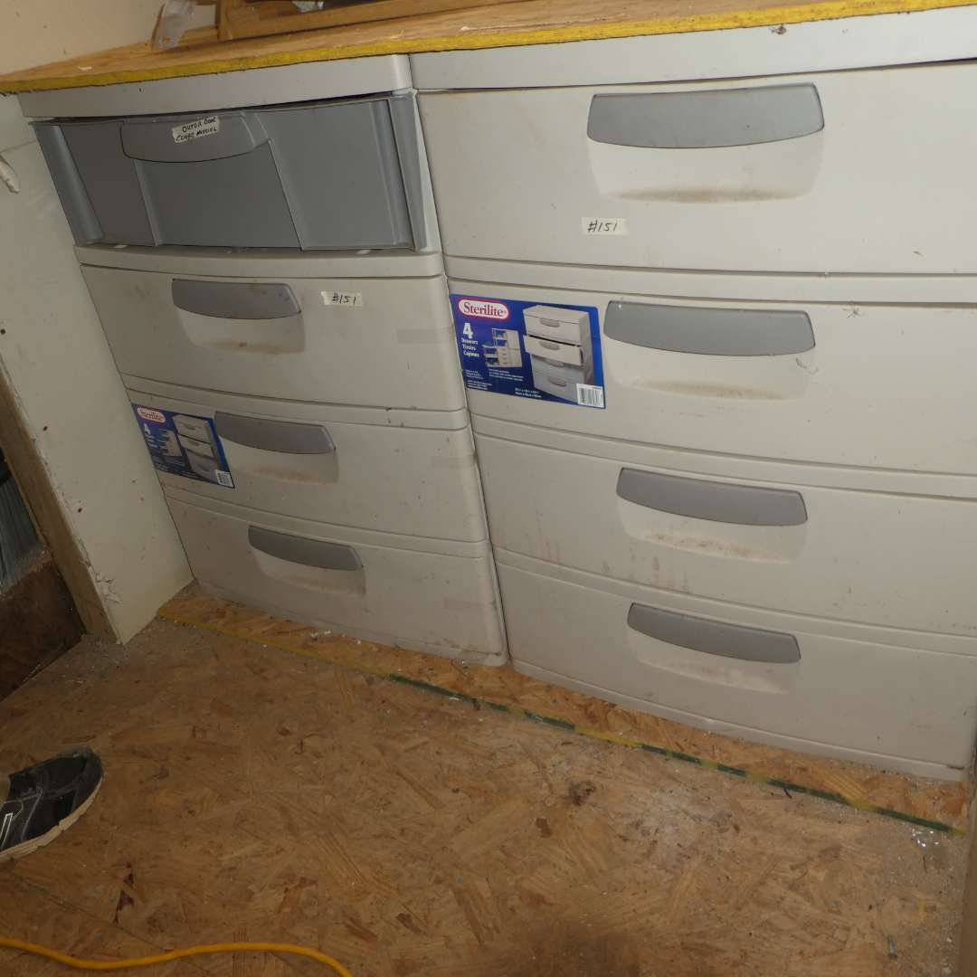 Lot # 151 - Two 4 Drawer Sterilite Units (main image)