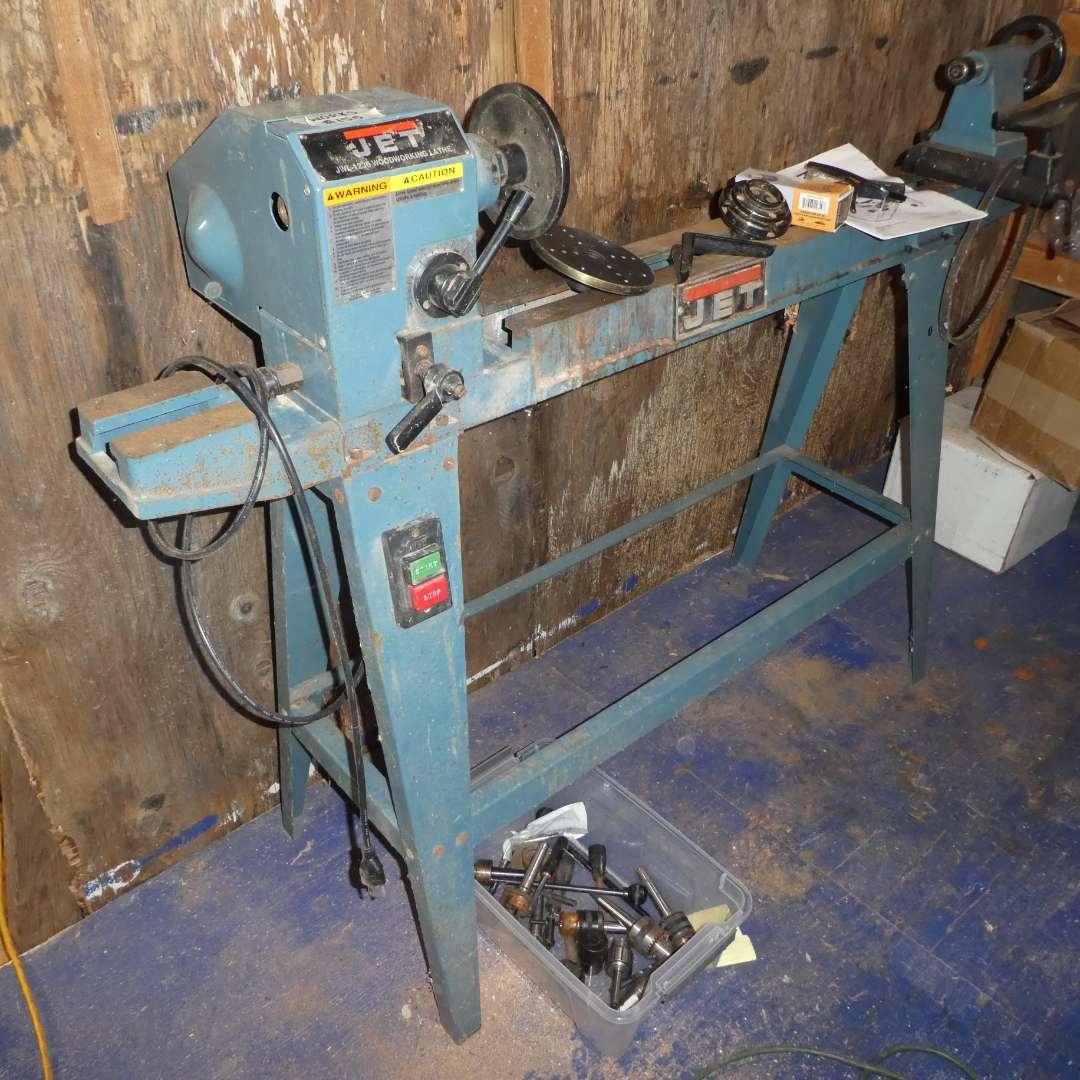 Lot # 155 -  Jet Woodworking Lathe (Model JWL-1236)(Works) (main image)