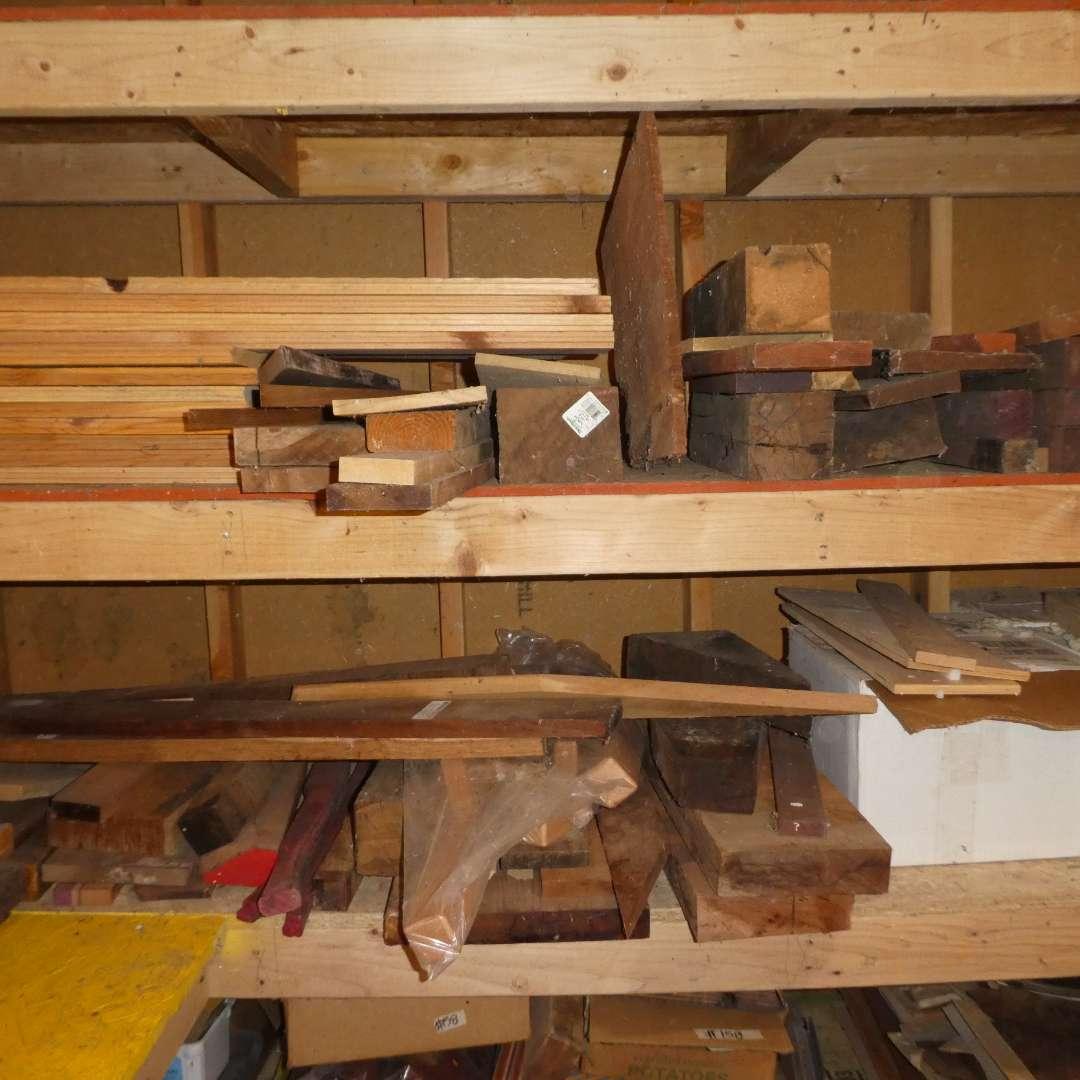 Lot # 161 - Large Lot of Hardwood (Various Types and Sizes) (main image)
