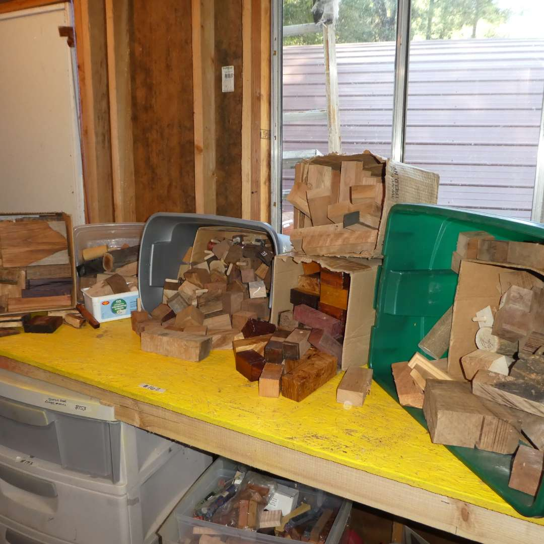 Lot # 162 -  Large Lot of Crafting Wood (Various Types and Sizes) (main image)