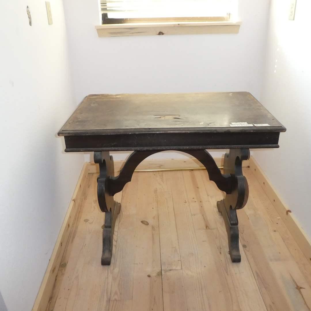 Lot # 216 - Vintage Desk/Table W/ Drawer For Restoration (Dovetail Drawer) (main image)