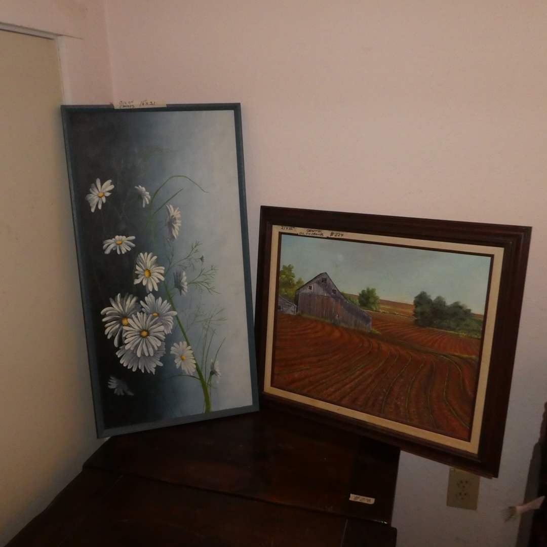 Lot # 224 - Two Framed Original Oil On Canvas Paintings (main image)