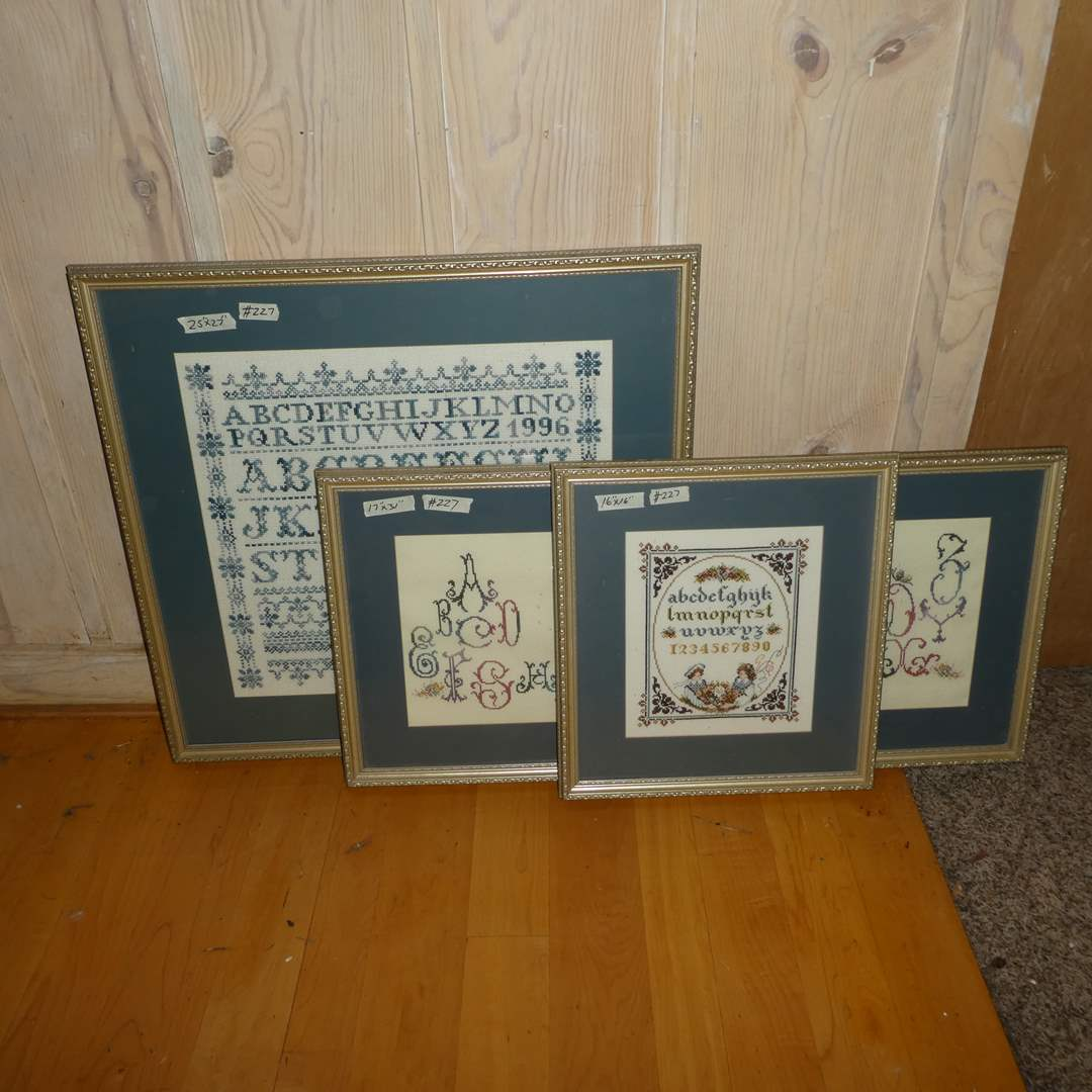 Lot # 227 -  Cute Framed Needle Work (ABC'S) (main image)