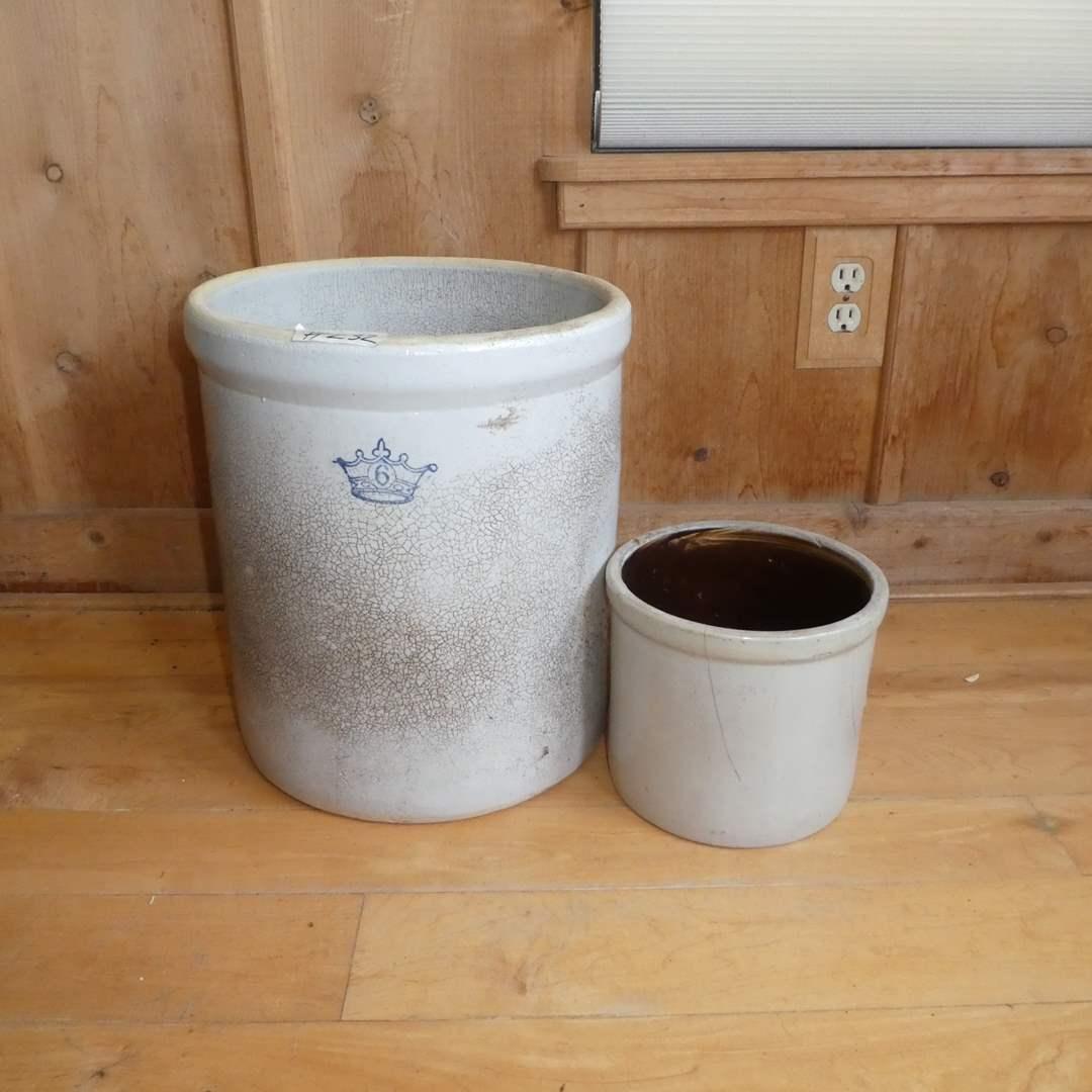 Lot # 232 - Two Vintage Crocks  (main image)