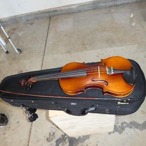 Auction Thumbnail for: Lot # 307 - Violin in Case- Was Just Restrung