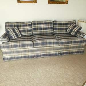 Lot # 100 - Quality Stanton Cooper Plaid Sofa