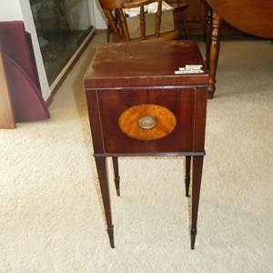 Lot # 108 - Small Antique Wooden Accent Table w/Drawer