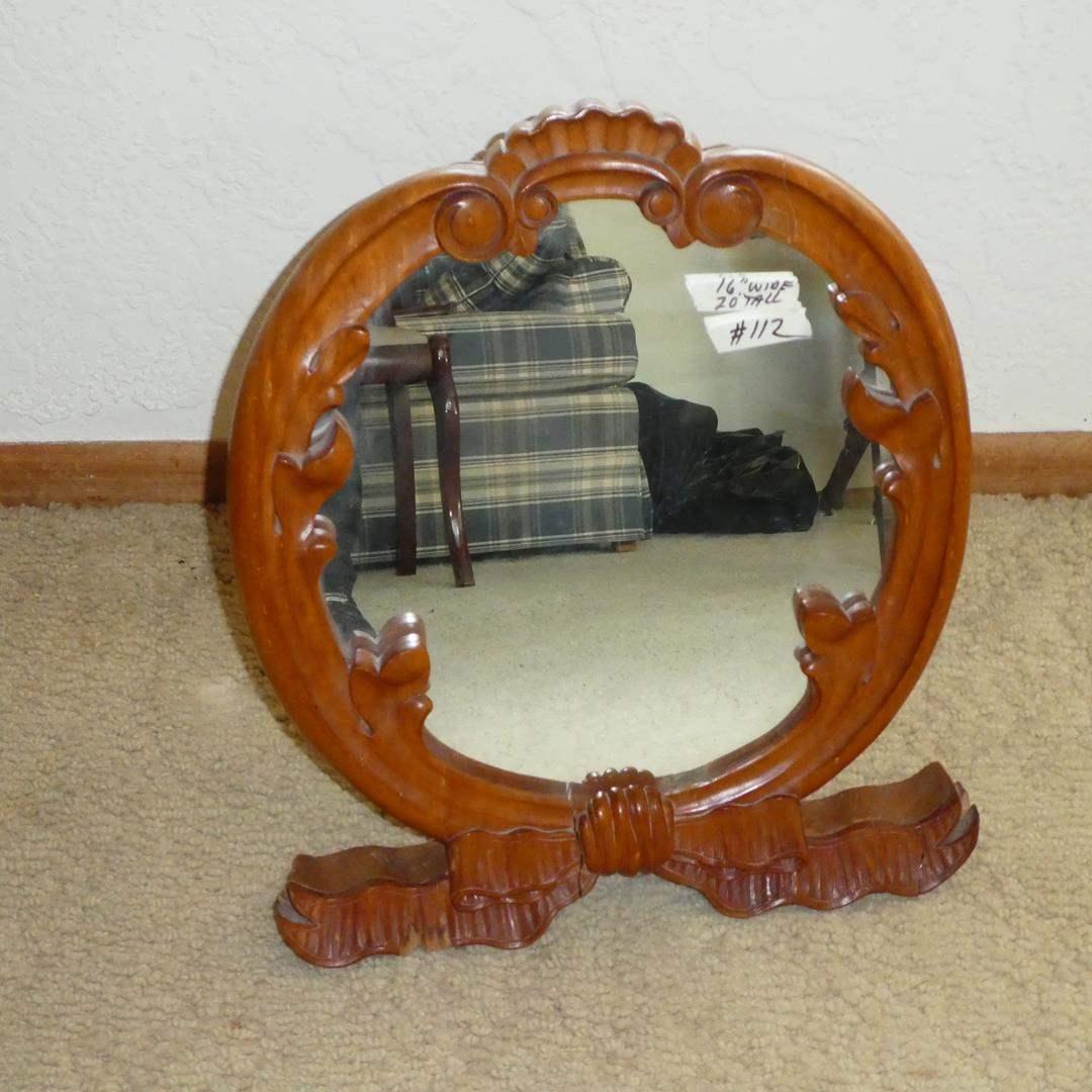Lot # 112 - Unique Vintage Dresser Top Shaving/Vanity Mirror (main image)