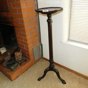 Lot # 113 - Vintage Wooden Plant Stand w/Claw Feet