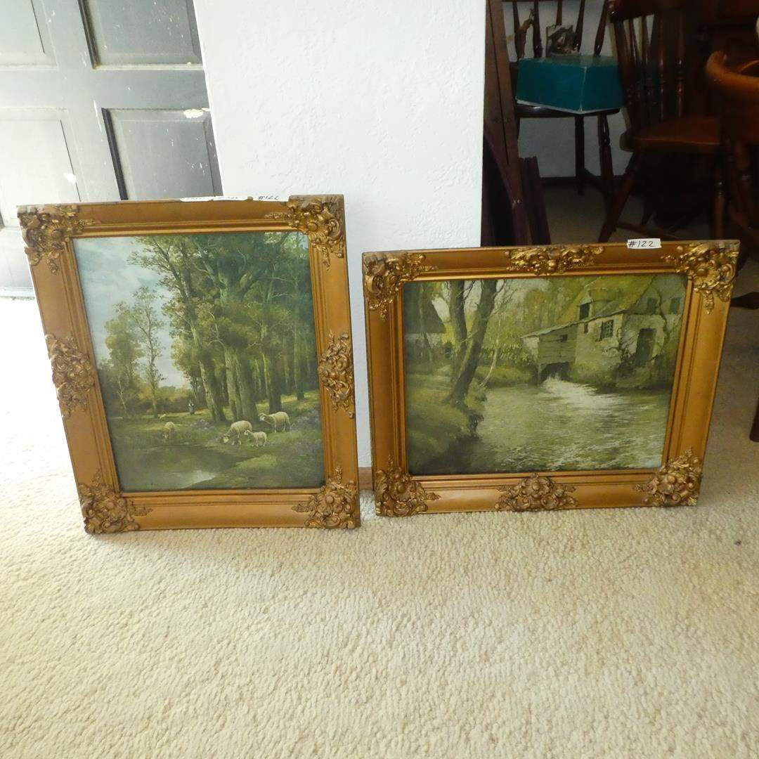 Lot # 122 - Two Beautifully Framed Signed Vintage Prints (main image)