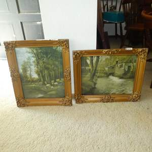 Lot # 122 - Two Beautifully Framed Signed Vintage Prints