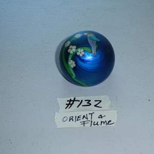 Lot # 132 - Vintage 1979 Signed Gary Jones Orient & Flume Glass Paperweight