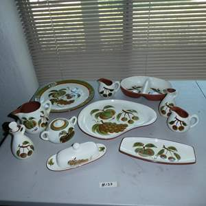 Lot # 133 - Vintage Hand Painted Stangl Pottery Orchard Song Pattern