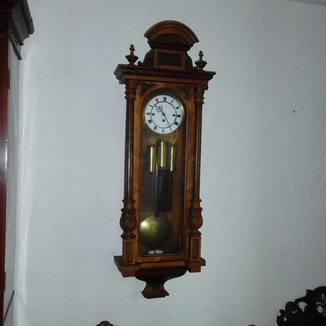 Lot # 143 - Antique Pendulum Wall Clock (main image)