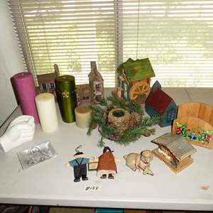 Lot # 154 - Candles, Villages & Vintage Edelweiss Music Box