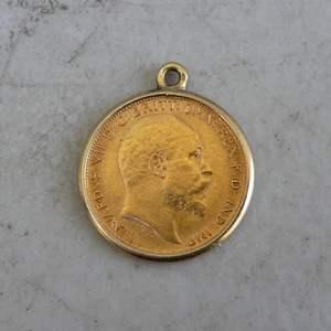 Lot # 185 - 1908 Gold Coin Sovereign - King Edward VII - London