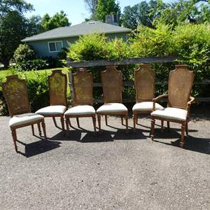 Lot # 197 - Six Vintage Stanley Furniture Cane Back Chairs