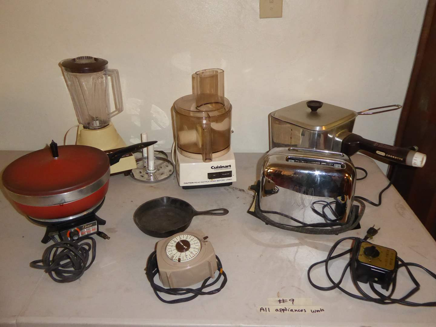 Lot # 9 - Oster Chafing Dish, Nesco Cook Ryte Fryer & More  (main image)