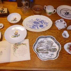 Lot # 16 - Collectible Plates & Bridal Blossoms Book