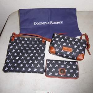 """Lot # 24 - Dooney & Bourke """"Oakland A's"""" Purse & Wallet Set"""