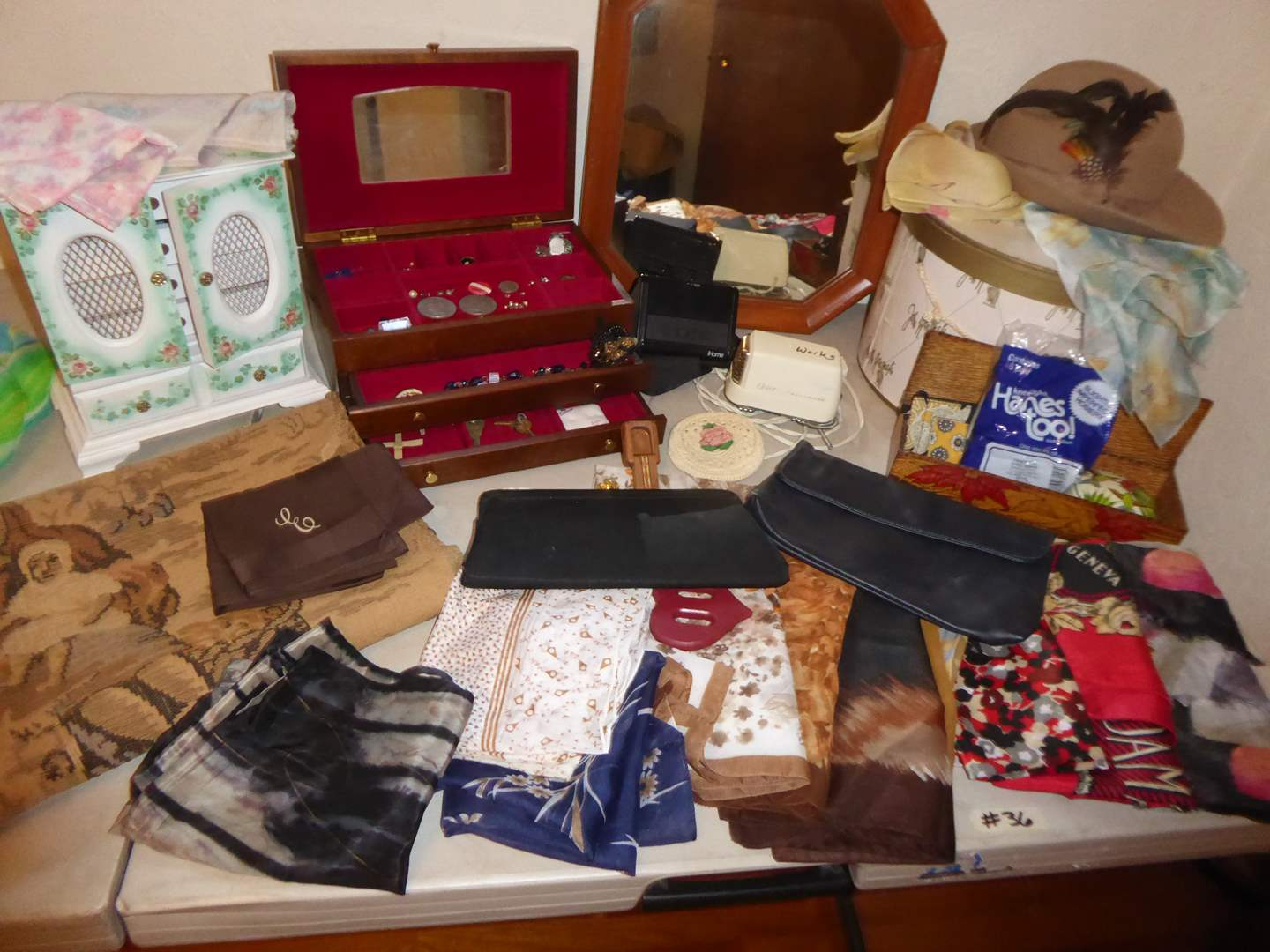 Lot # 36 - Tapestry, Costume Jewelry, Scarves & More  (main image)