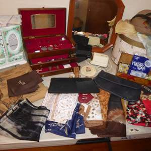 Lot # 36 - Tapestry, Costume Jewelry, Scarves & More