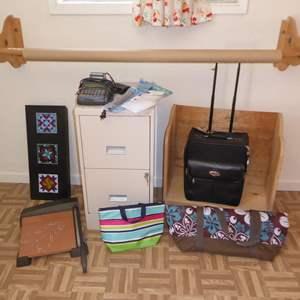 Lot # 42 - Craft Business Lot - Craft Paper Dispenser, Nurit Card Payment Terminal, Filing Cabinet & More