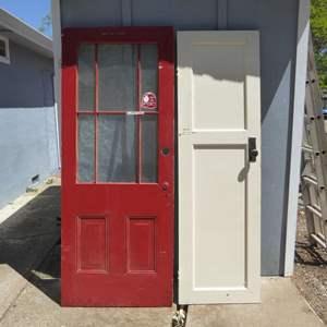 Lot # 45 - Two Vintage Wooden Doors