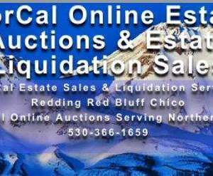 NorCal Online Estate Auctions Estate Sales & Liquidation Services - Redding Chico Red Bluff Northern Ca