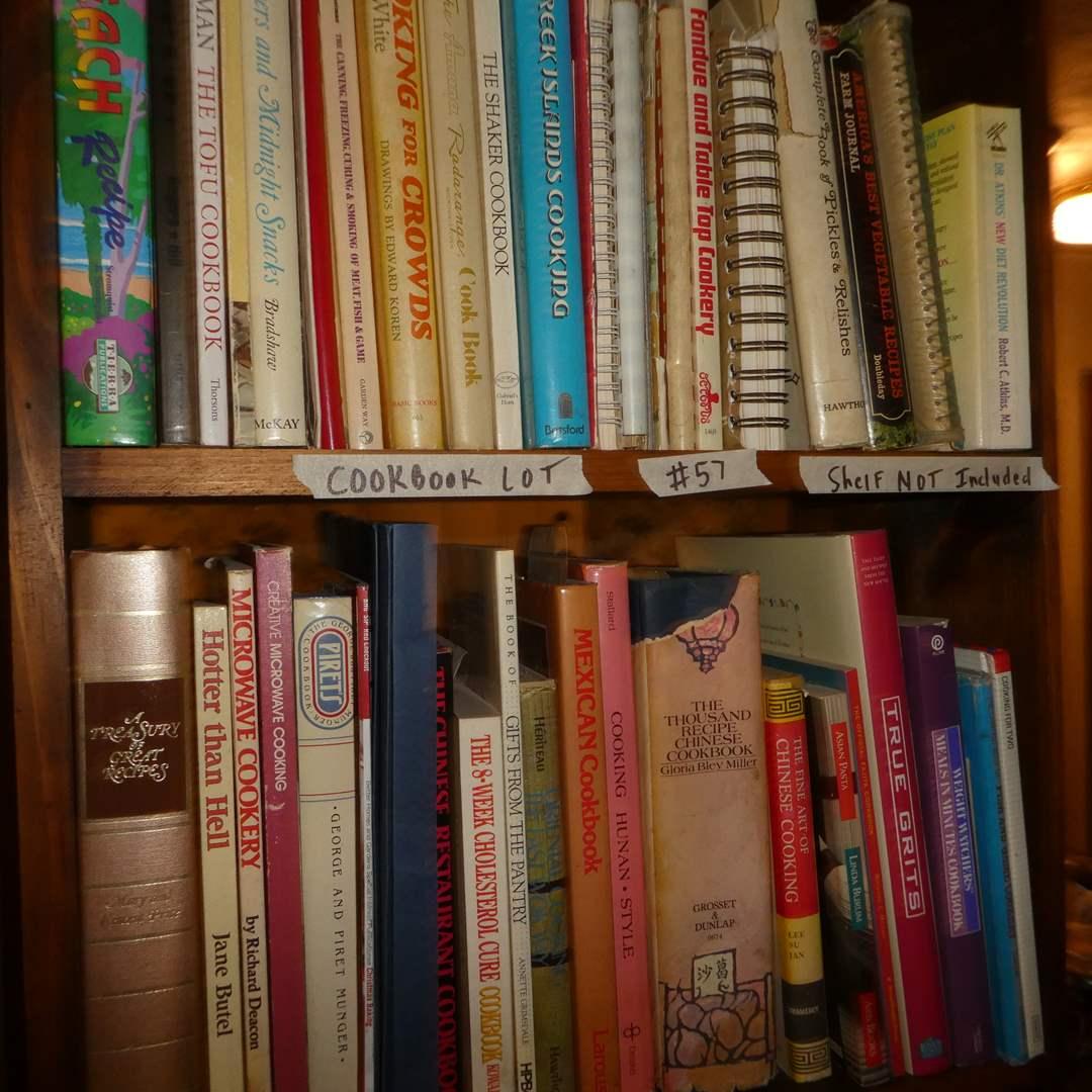 Lot # 57 - Large Cookbook Lot (Shelf NOT Included) (main image)