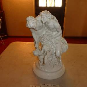 Lot # 61 - Beautiful Vintage/Antique Porcelain Statue Of Aphrodite, Fan and Kros (See All Photos)