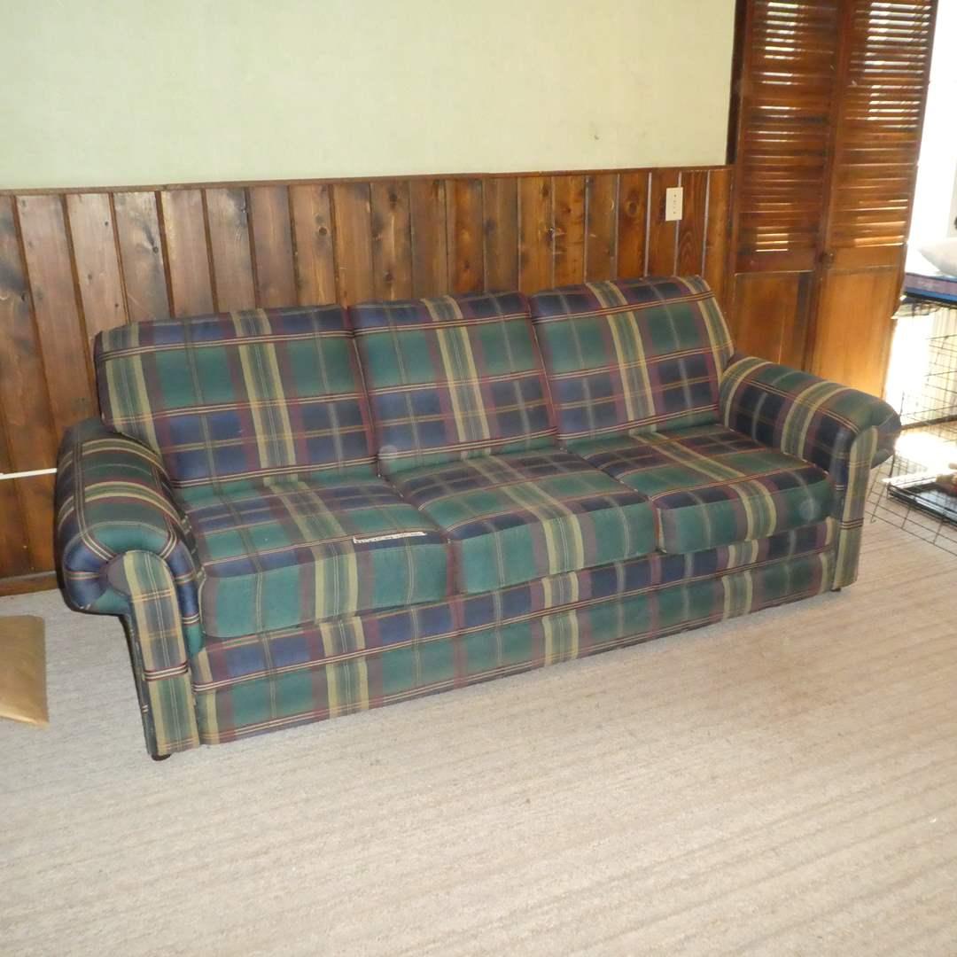 Lot # 78 - Plaid Simmons Upholstery Sofa  (main image)