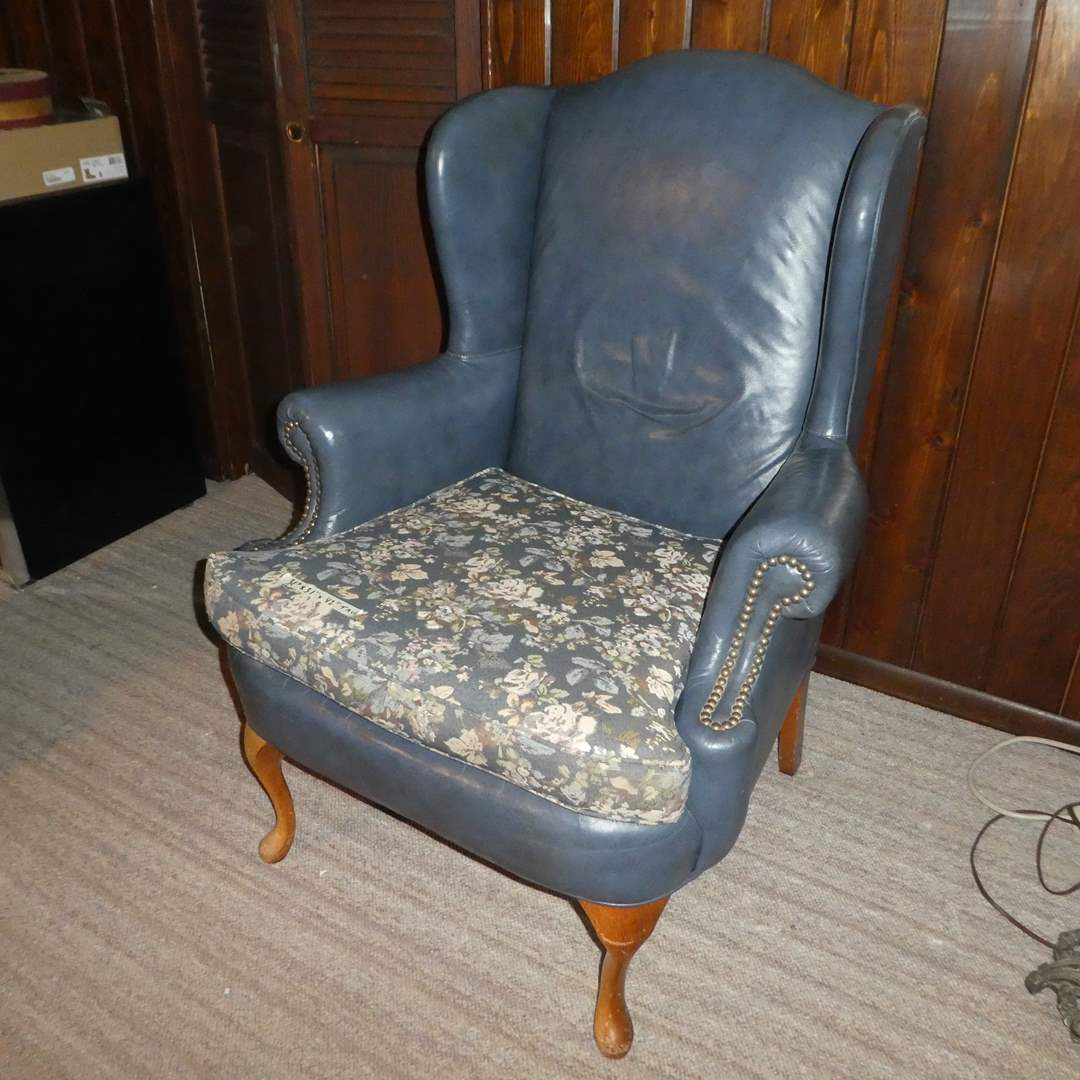 Lot # 80 - Vintage Accent Chair (Upholstery Loose in One Area)  (main image)