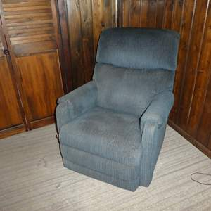 Lot # 84 - Blue La-Z-Boy Recliner (Has Some Discoloring)(See All Photos)