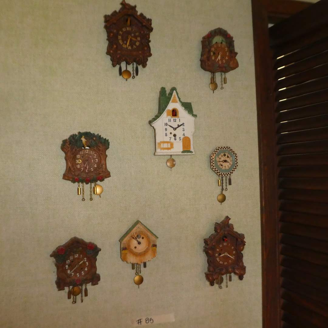 Lot # 85 - Variety of Small Cuckoo Clocks (Mostly August C. Keebler Co. and Lux Clock MFG Co. Inc.) (main image)