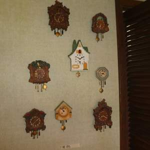 Lot # 85 - Variety of Small Cuckoo Clocks (Mostly August C. Keebler Co. and Lux Clock MFG Co. Inc.)