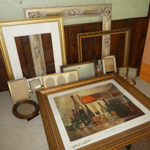 Lot # 89 - Assortment of Picture Frames (Various Shapes and Sizes)