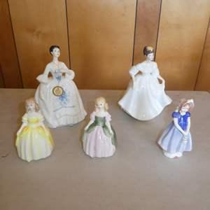 Lot # 213 - Five Vintage Royal Doulton Figurines