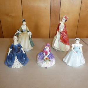 Lot # 214 - Five Vintage Royal Doulton Figurines
