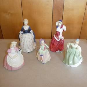 Lot # 215 - Five Vintage Royal Doulton Figurines