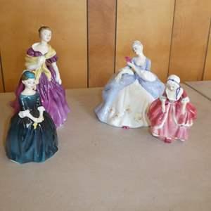 Lot # 216 - Five Vintage Royal Doulton Figurines