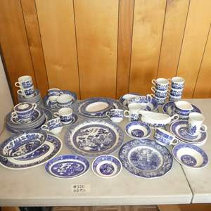 Lot # 220 - 68 Pieces of Blue Willow Ware (Mostly Marked England)